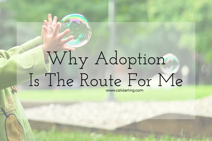 Why Adoption Is The Route For Me