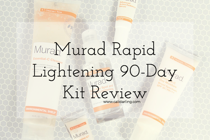 Murad Rapid Lightening 90-Day Kit Review